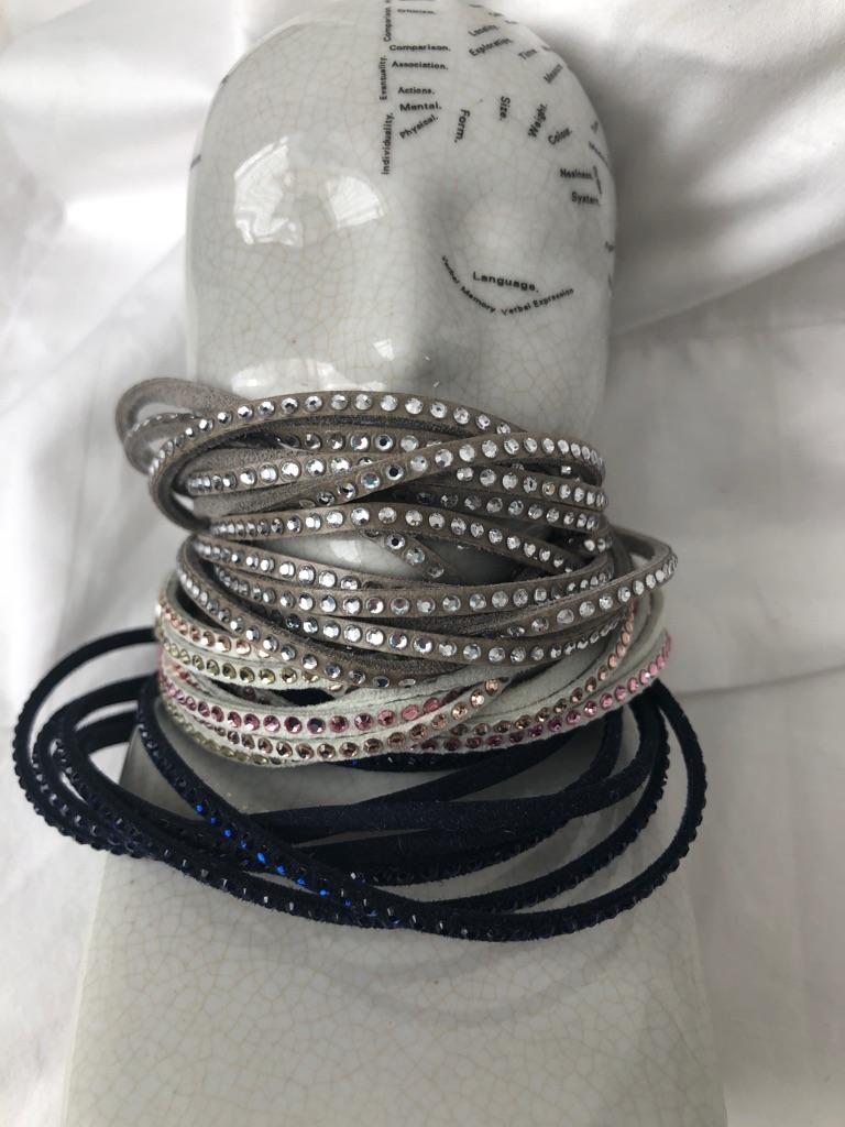Three Swarovski slake bracelets
