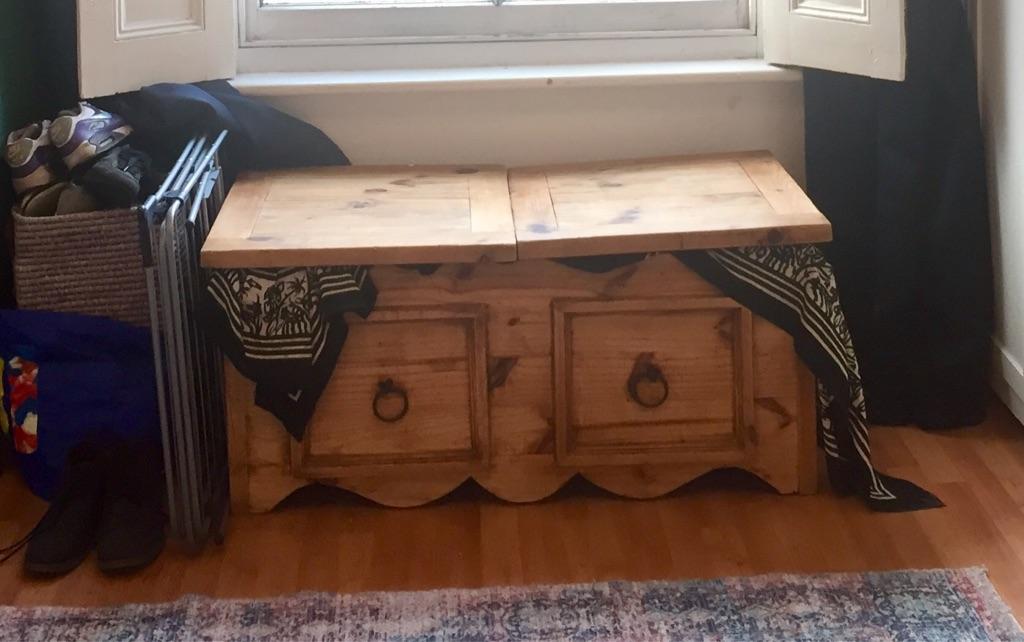 Beautiful wooden storage chest