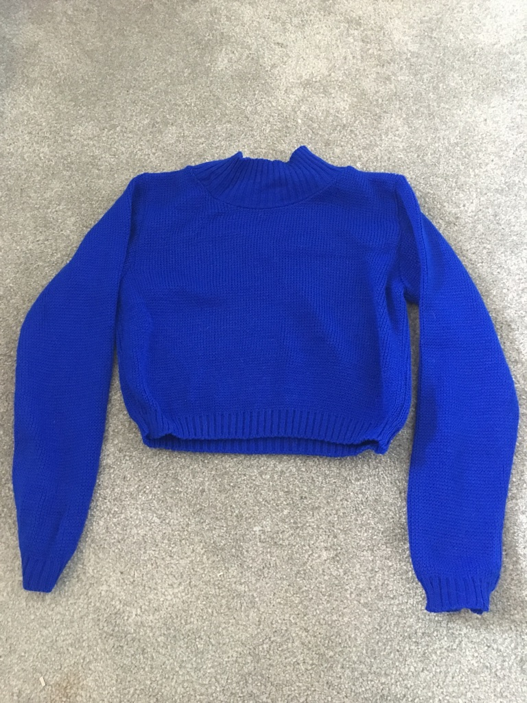 PLT brand ribbed cobalt blue knit