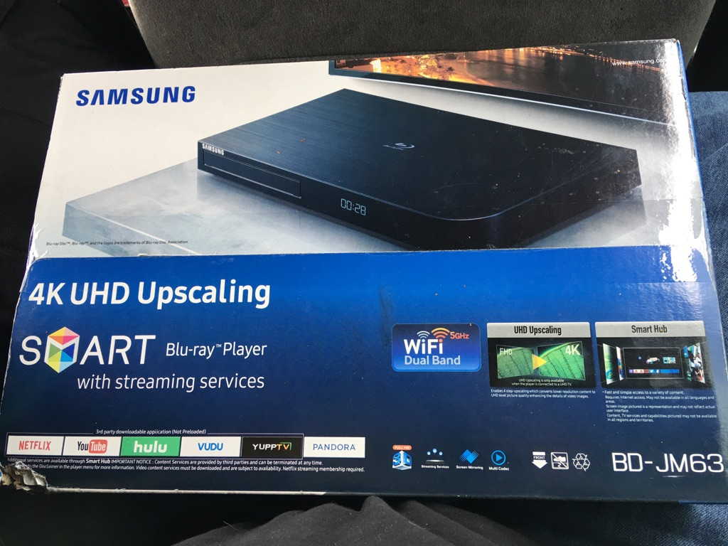Samsung 4k UHD Blueray player smart hub