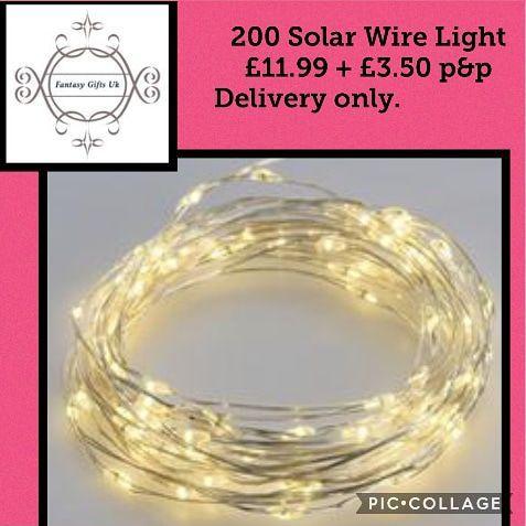 200 Solar Wire lights.