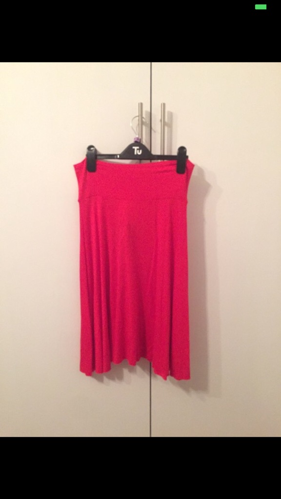 Dvash Red Cotton Stretch Skater Skirt BNWT