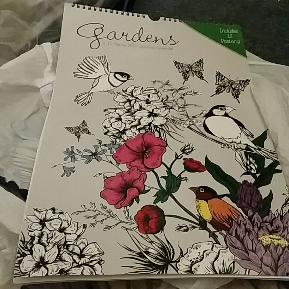 Coloring poster calender includes 13