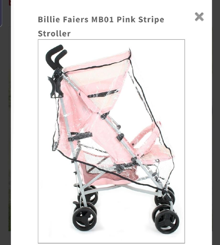 My Babiie pink stroller, excellent condition
