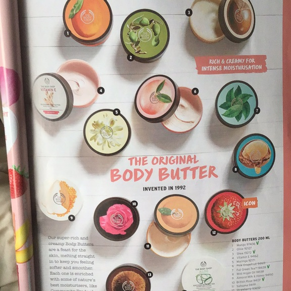 The body shop body butters .