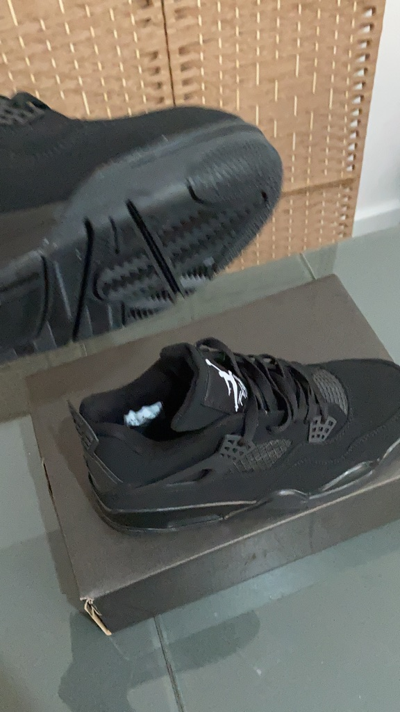 Black cat air Jordan four