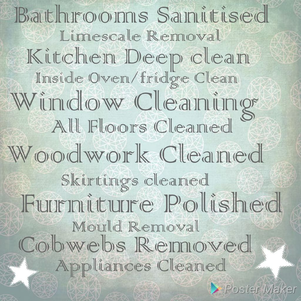 🌟🌟CLEANING SERVICES🌟🌟