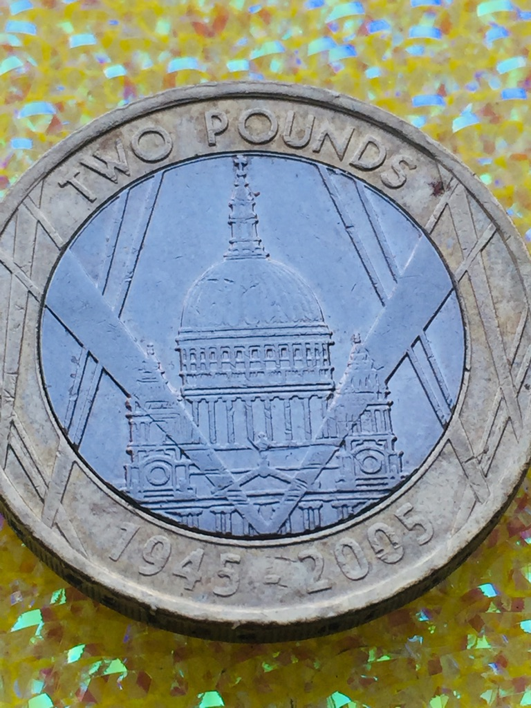 2 pound coin the end of second would War 2005.