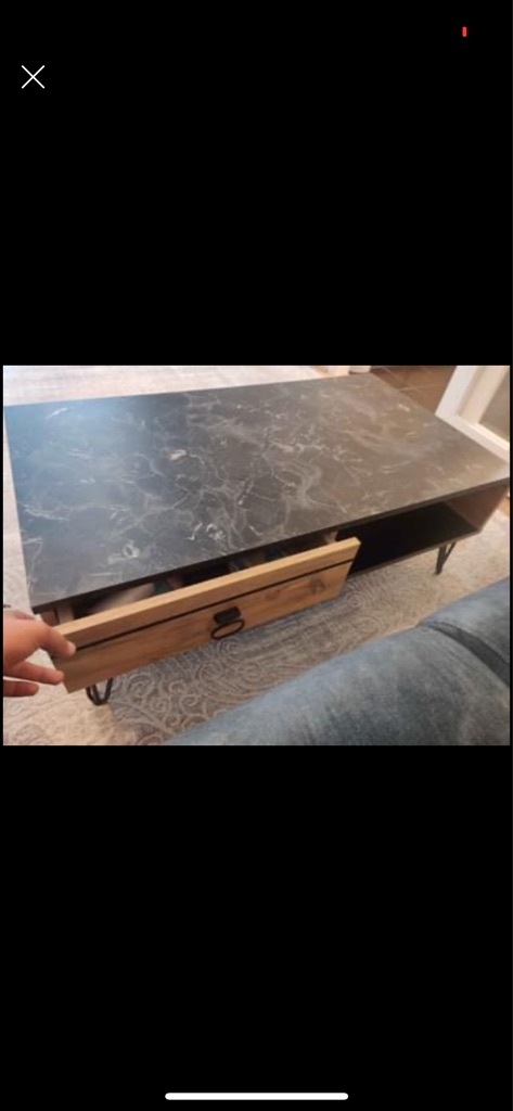 Wooden marble coffee table