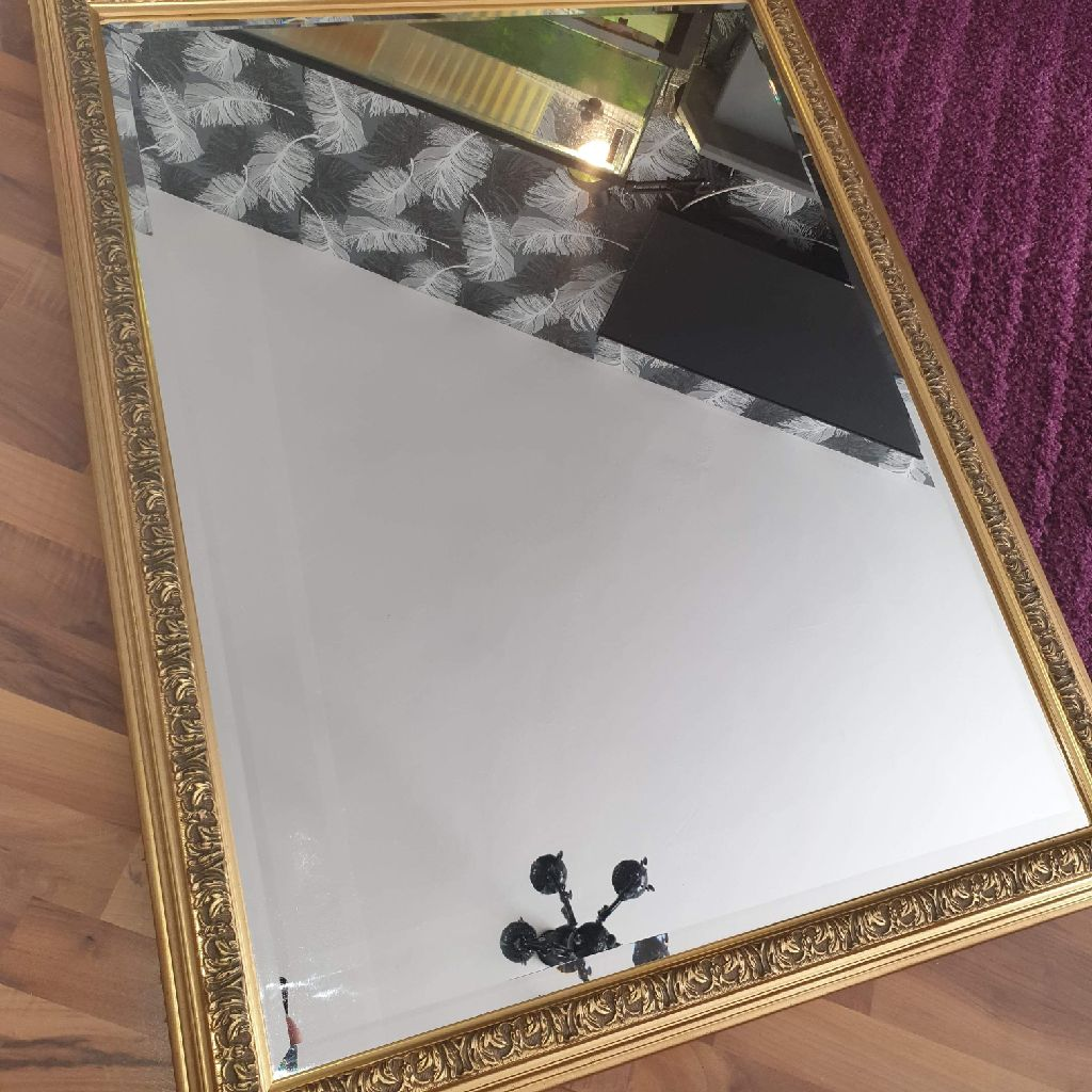 Large gold mirror heavy