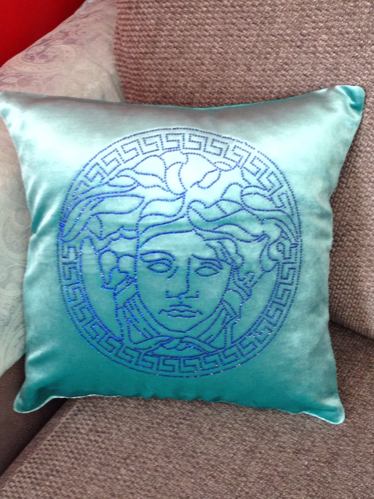 Versace Face cushion cover