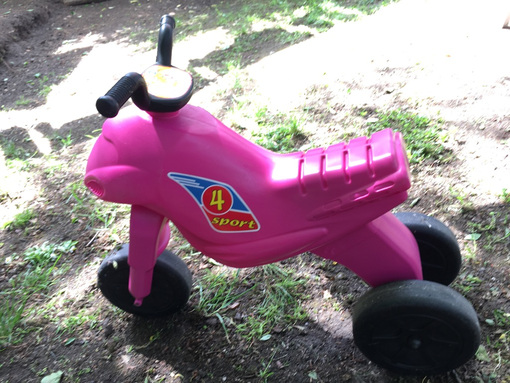 Plastic balance bike for toddlers 2yo and older