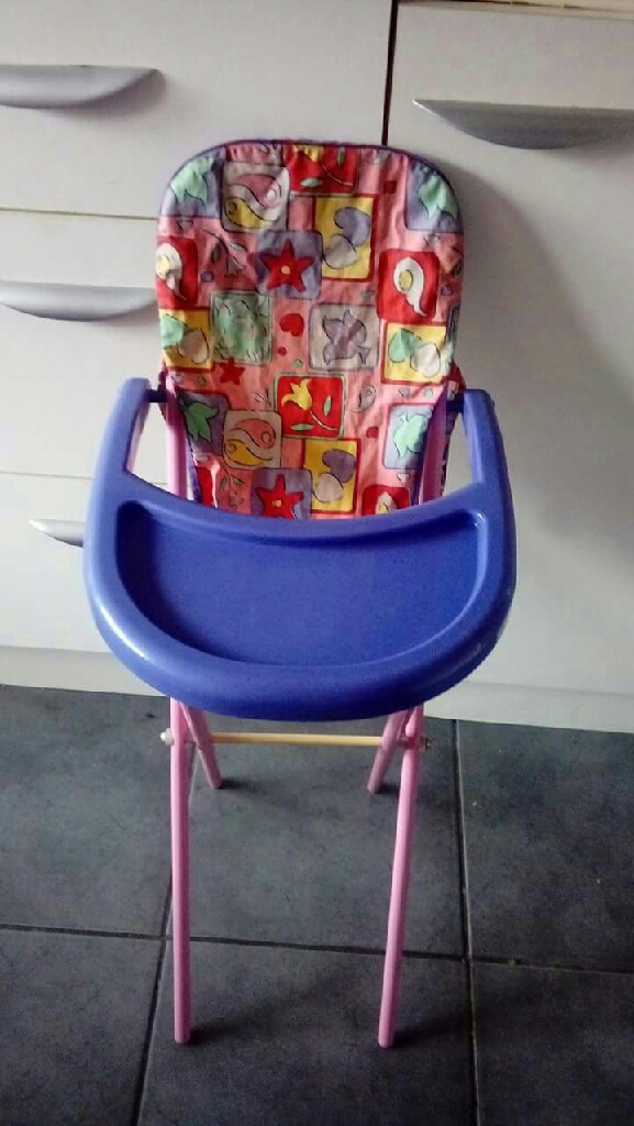 Dolls prams, carrier and high chair