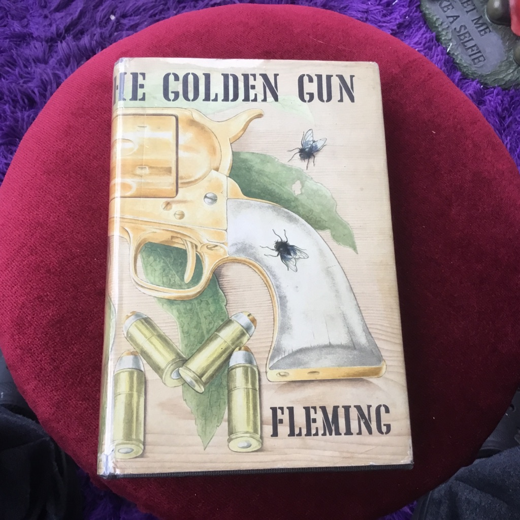 The man with the golden gun first edition Ian Fleming 1965 black cloth boards gold lettering original dustjacket priced 18s net hardback VGC