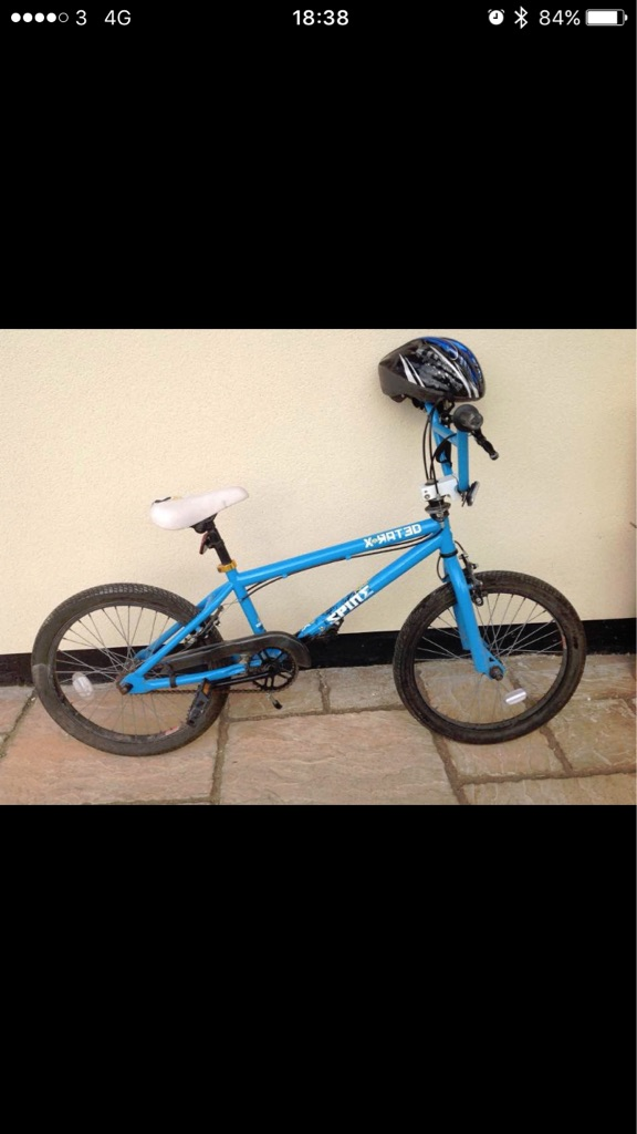 "Blue 19"" X-Rated BMX bike"