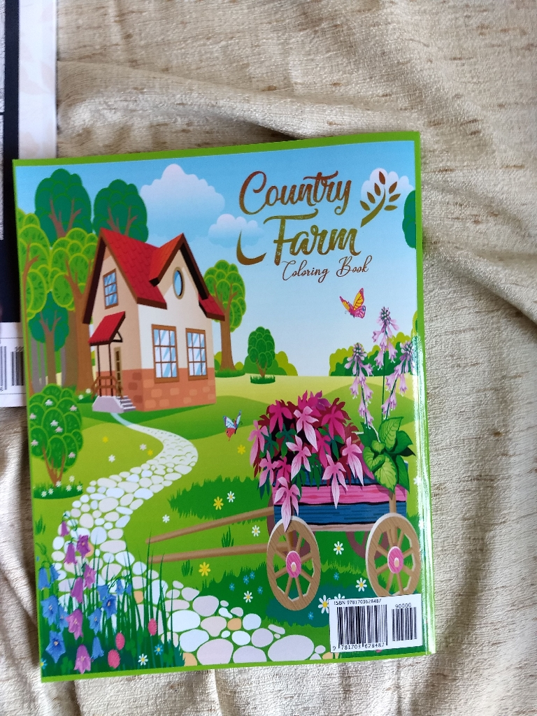 Country Farms coloring books