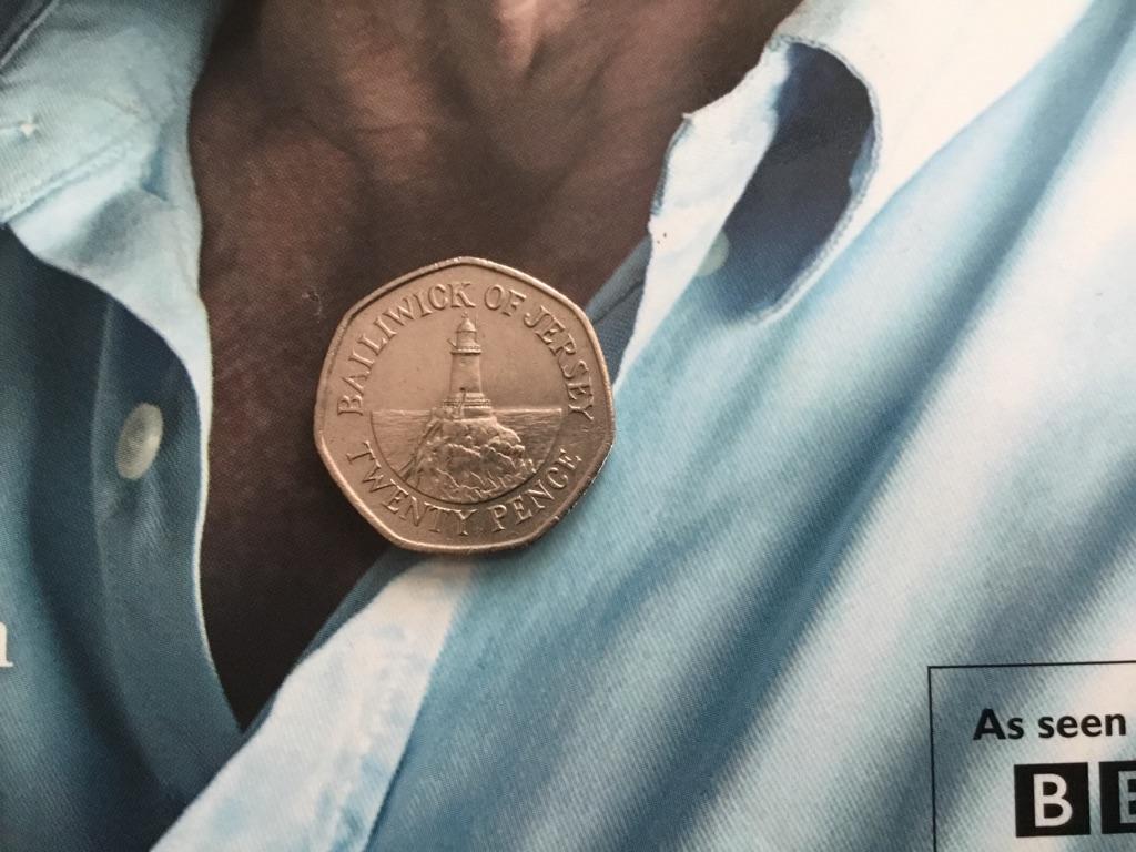 Rare 20p coin ballylwick of jersey 1998