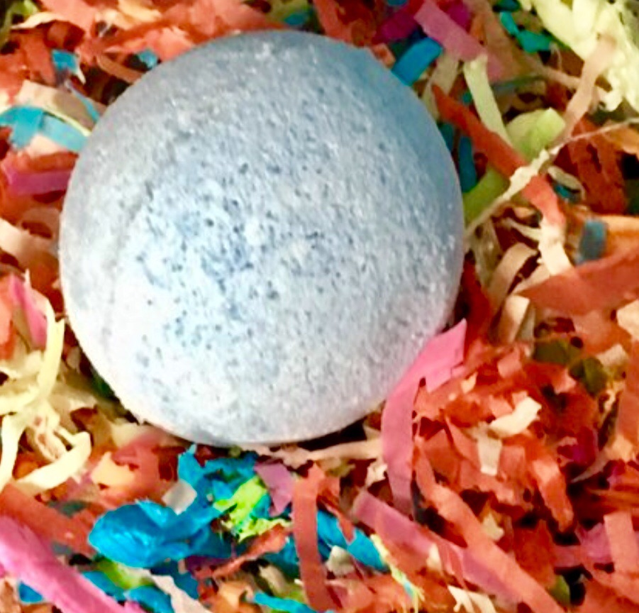 Blueberry muffin scented bath bomb