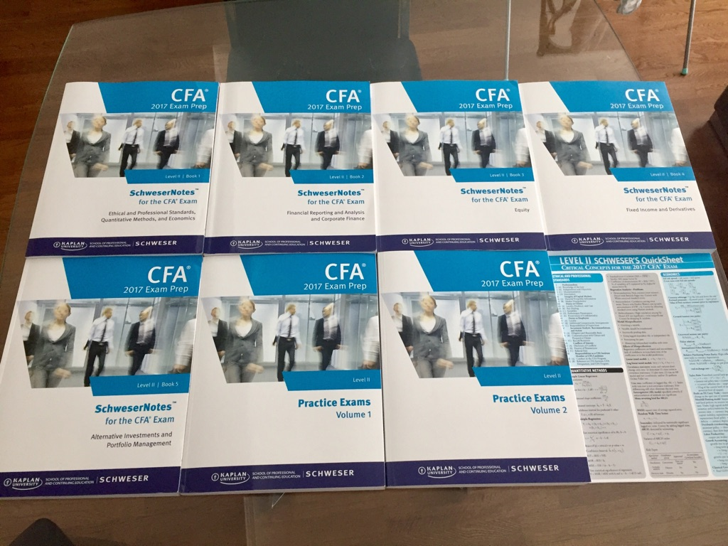 Kaplan Schweser 2017 CFA Level II Books