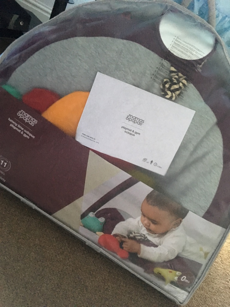 Mamas and papas tummy time octopus playmat and gym