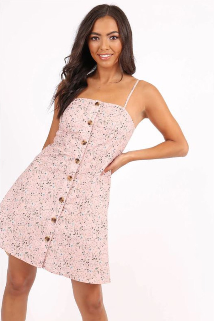 Light Pink Ditsy Floral Sundress