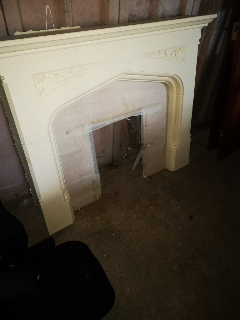 Mantelpiece and a marble slab
