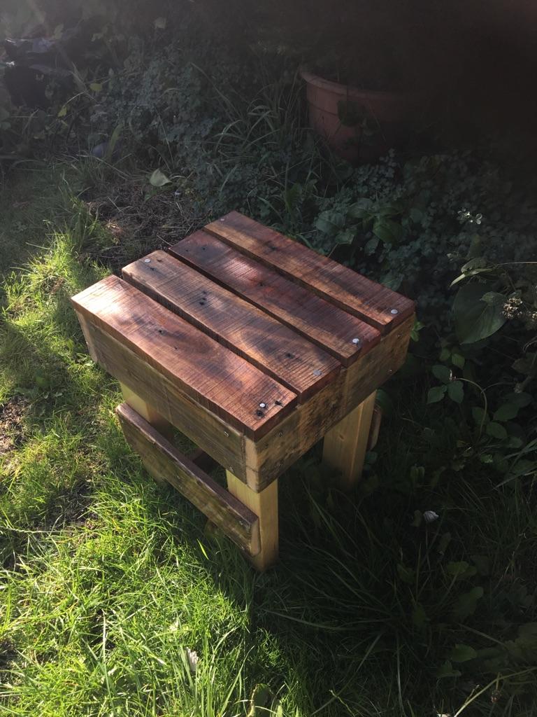 Handmade rustic stool