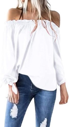 Women's off shoulder bow sleeve top