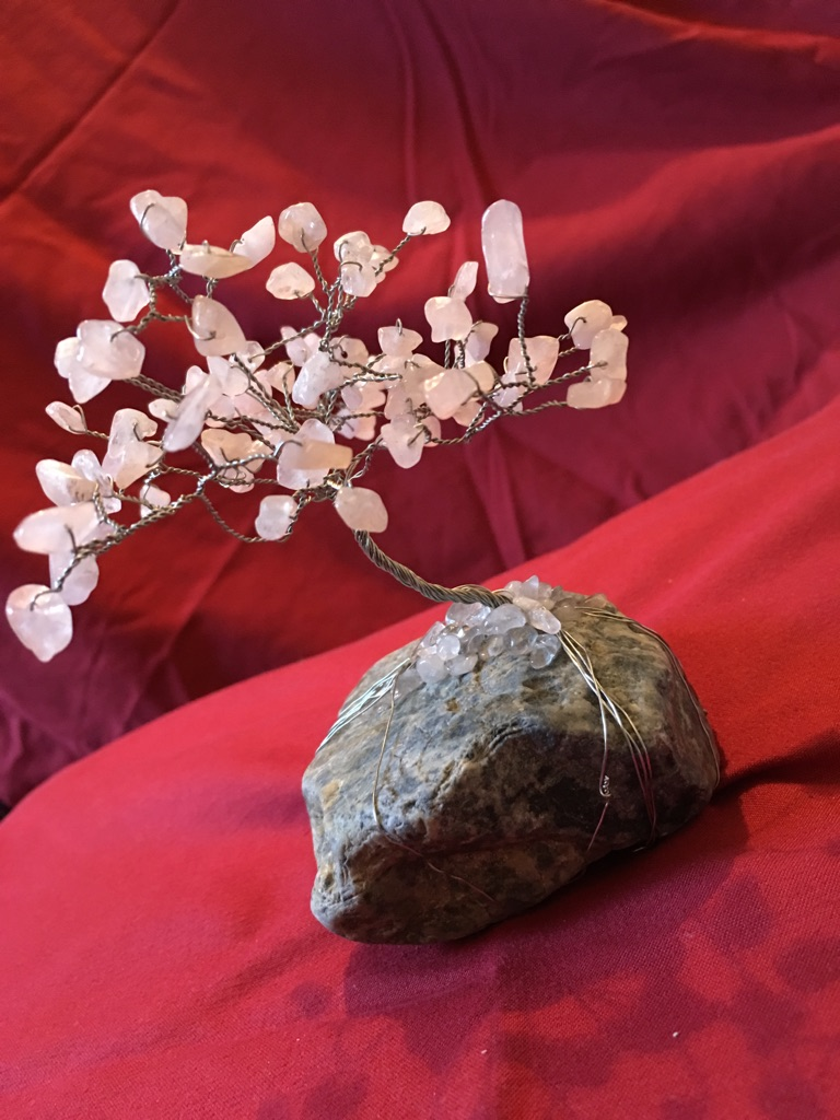 Rose quartz healing tree
