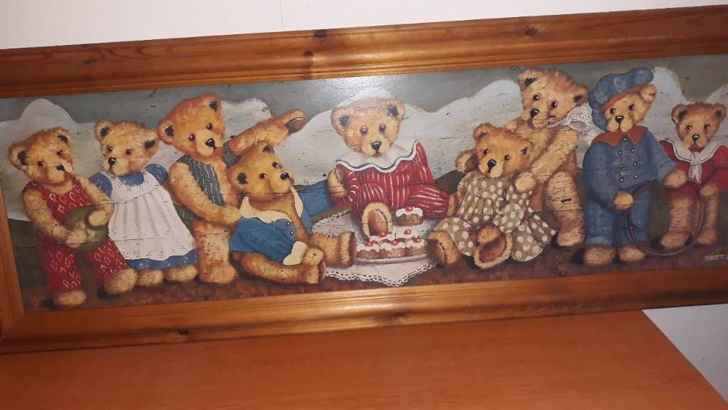 Old teddy painting.
