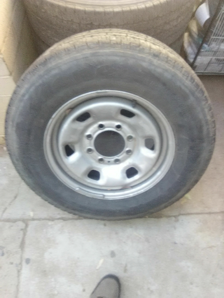 4 Firestone tires and rims for dodge ram