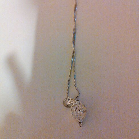 Silver heartshaped necklace