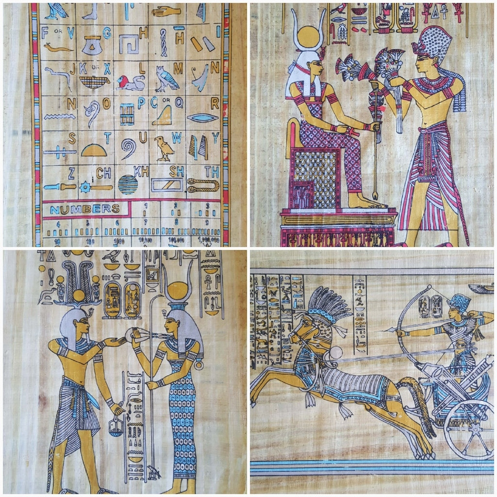 Ancient Egyption Manuscript craft printed on papyrus