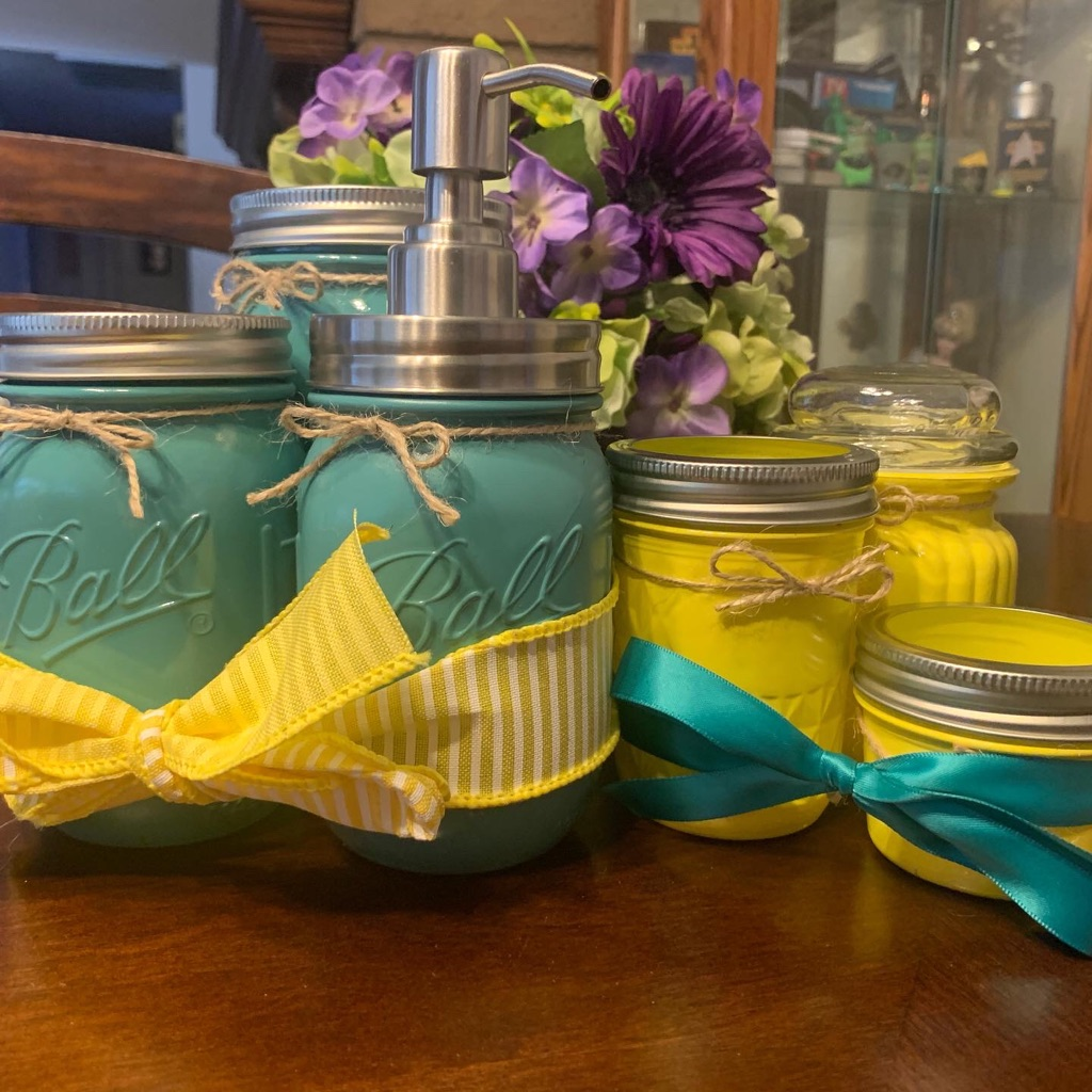 5-Piece Mason Jar Bathroom Set