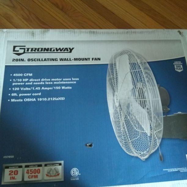 Oscillating wall-mount fan