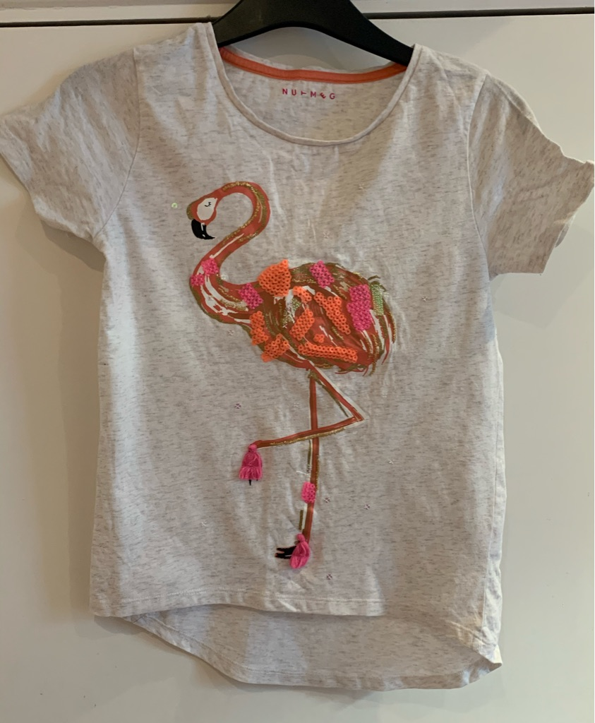 Flamingo T-shirt 11-12 years