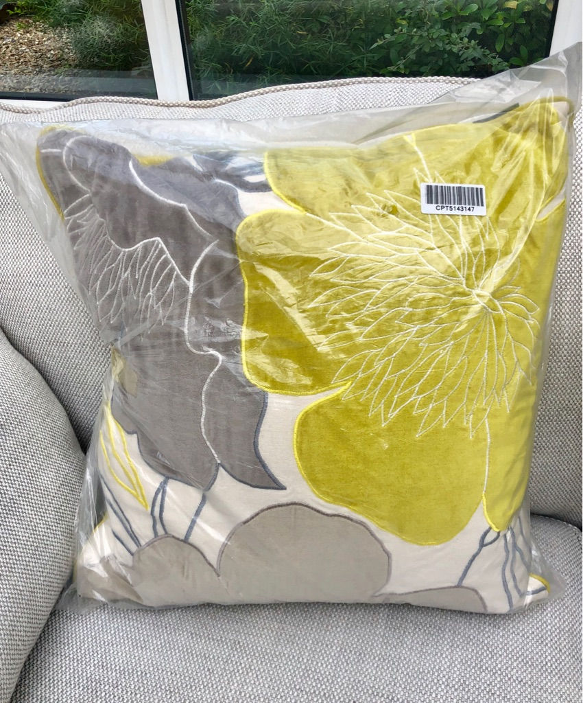 NEW - Single Cushion - Designers at Debenhams (Betty Jackson Black) unopened, unused.
