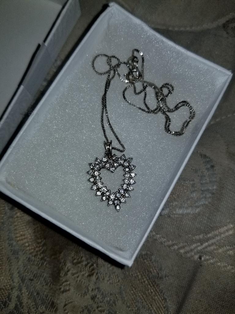 Sterling 925 diamond necklace
