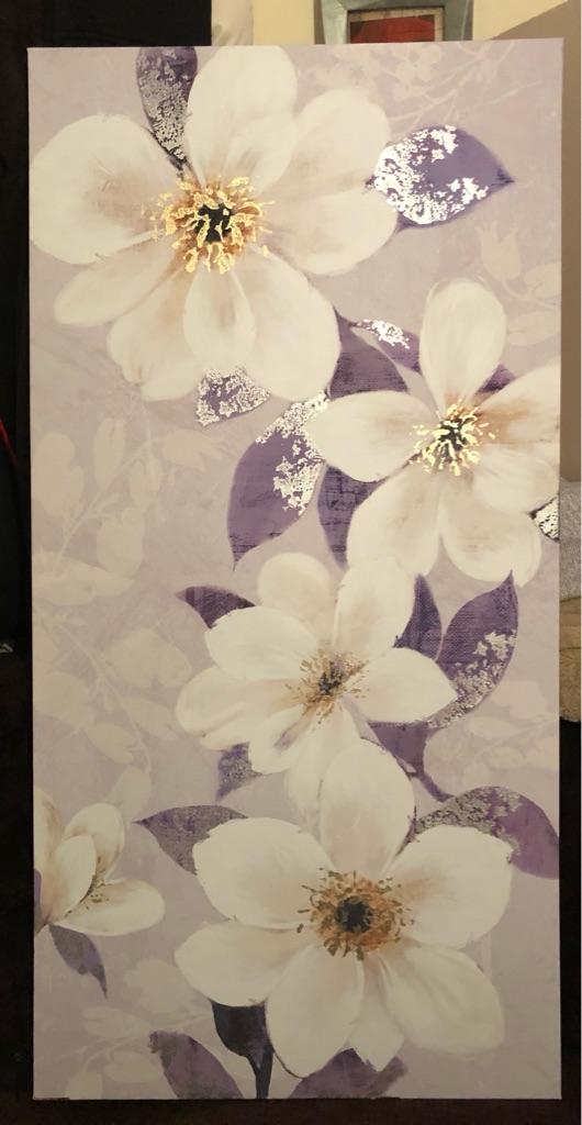 Flower printed canvas