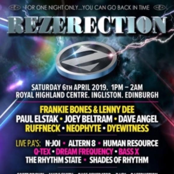 Rezerection ticket £30.00