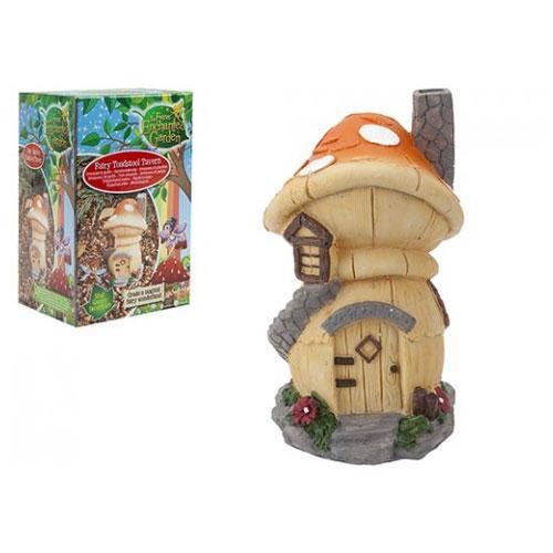 Secret fairy garden toadstool tavern