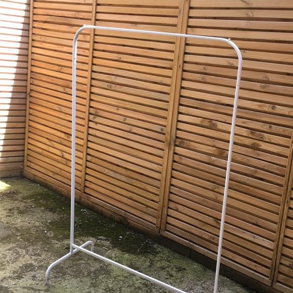 IKEA metal clothing rail