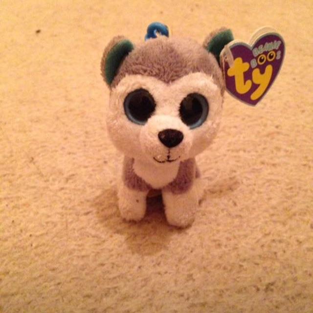 Husky TY Beanie Boos Teddy/Keyring