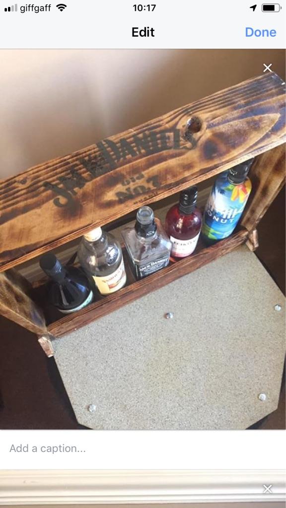Jack Daniels bottle rack