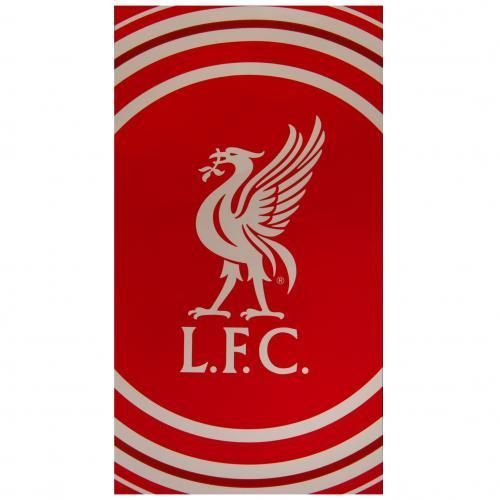 OFFICIAL LARGE FOOTBALL TEAM VELOUR BEACH TOWEL  - LIVERPOOL