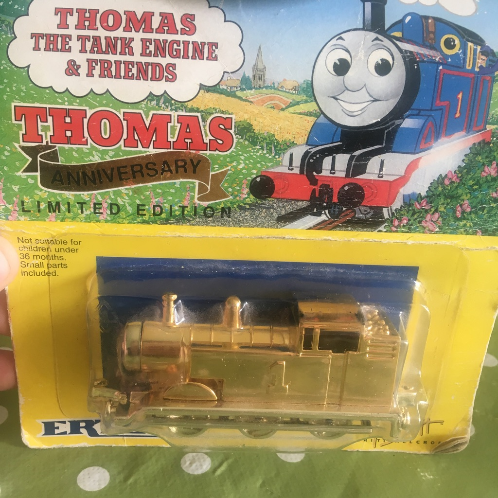 Limited edition gold Thomas the tank engine