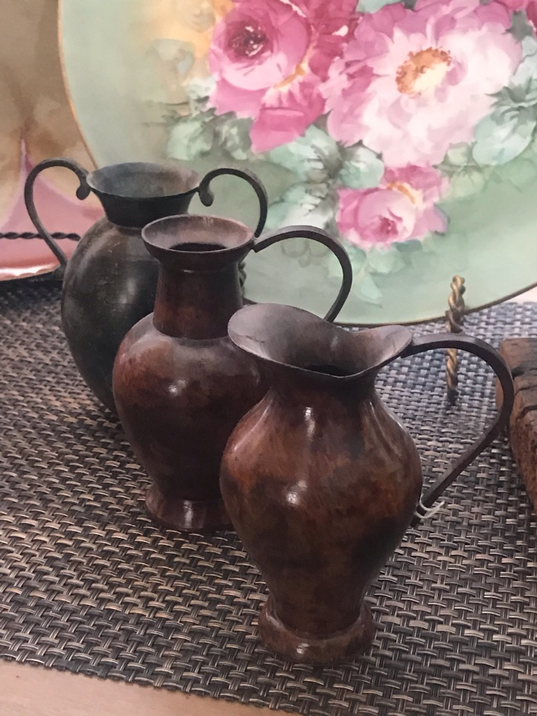 3 Minnie Vintage Decorative Jars