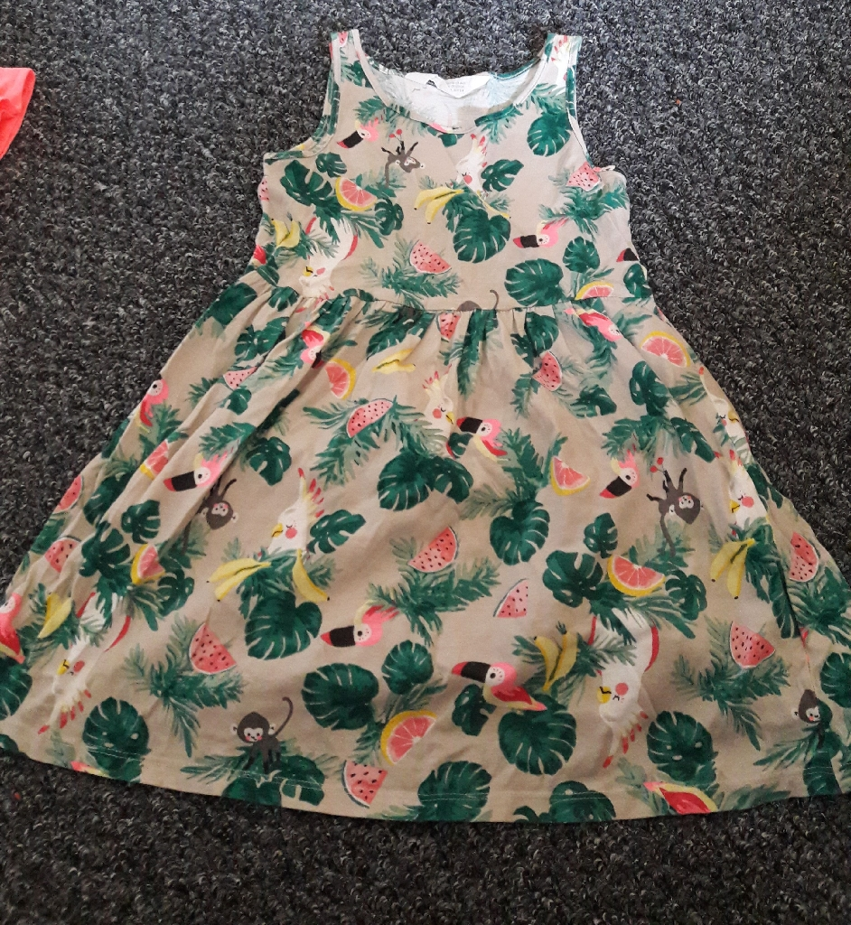 Girls summer dresses NEW age 4-6 years