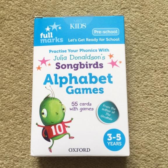 Julia Donaldson's songbirds phonics - Alphabet games