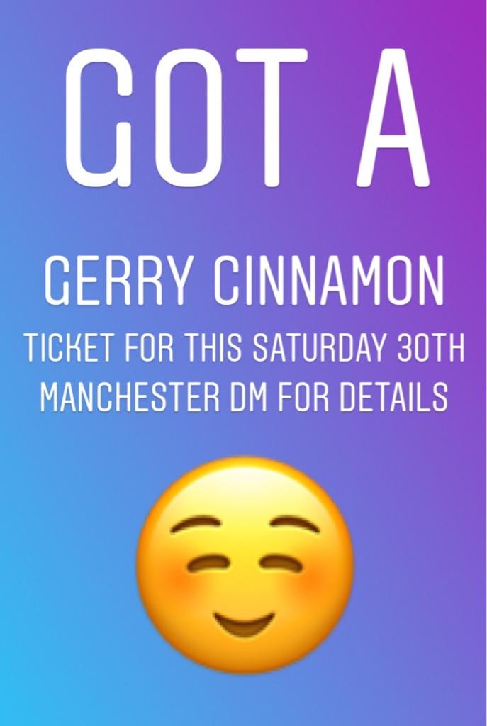 Gerry Cinnamon ticket